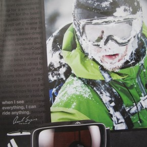 How a face full of snow can be a surprisingly good sell...