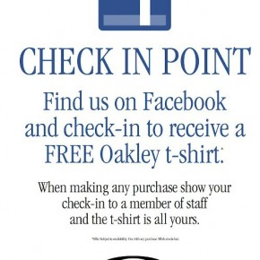Oakley Europe use Facebook Check-In promotion