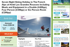 Ski holidays on Groupon