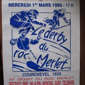 Le Derby du Roc Merlet - going downhill fast