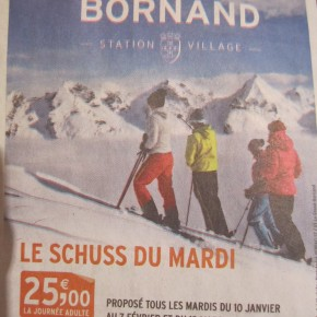 'Special Offer' resort advertising in France