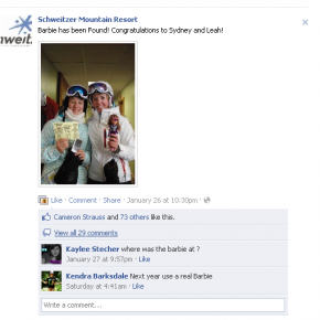 """Find Barbie"" campaign a social win for Schweitzer Mountain Resort"