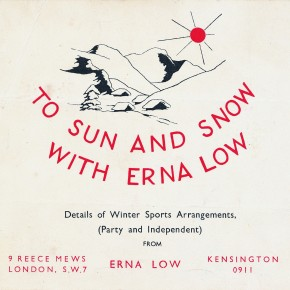 Is Erna Low's 1948 Ski Brochure the oldest?