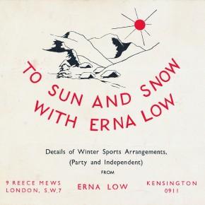 Is Erna Low's 1948 Ski Brochure the oldest?