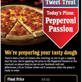 Dominos use Twitter hashtag to boost sales
