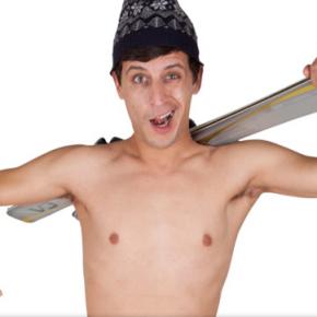 Nude skier helps Portes du Soleil win Facebook fans