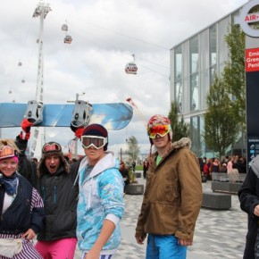 Ski Solutions make a social media splash with Air Line gondola stunt
