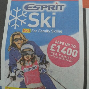 The first ski holiday adverts of the autumn...