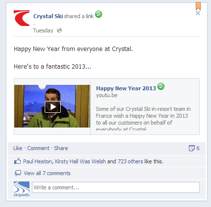 crystal facebook