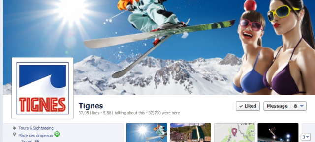 Tignes update Facebook page to make it less 'official and more shareable