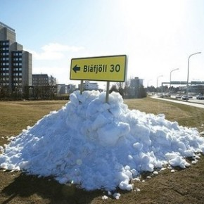 How to turn a pile of snow into guerrilla marketing