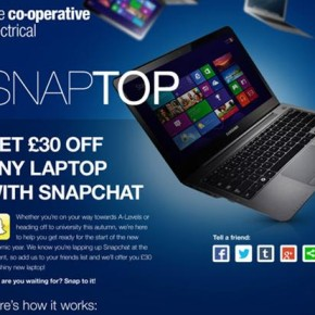 Co-operative Electrical create Snapchat promotion