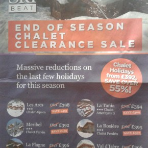 Ski Beat advert suggests poor season for UK ski companies