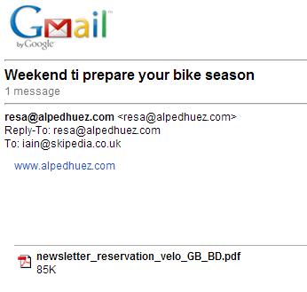 Alpe d'huez email