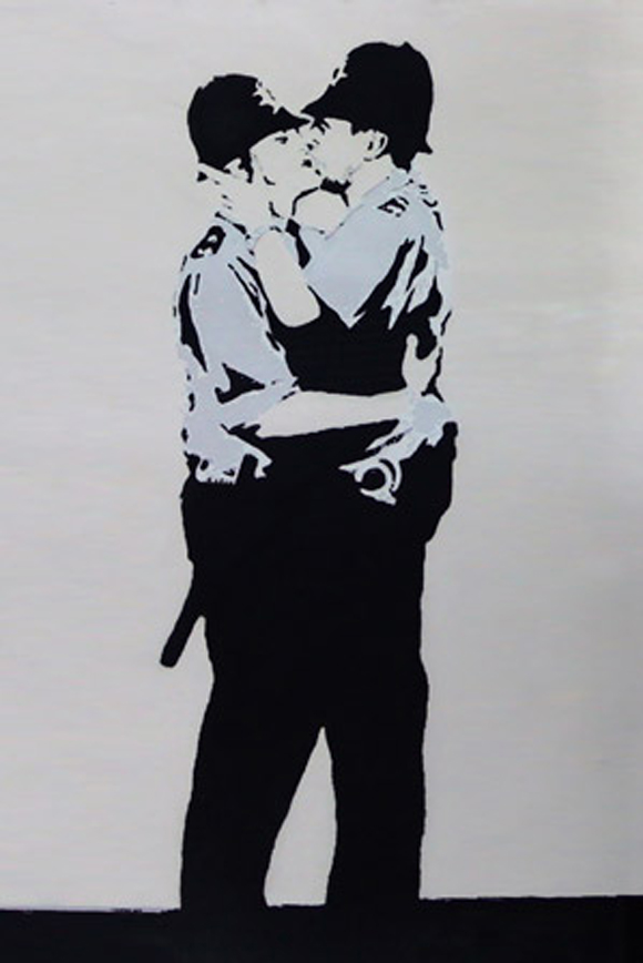 Banksy-Kissing-Police