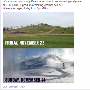 Was this the best Facebook post by a ski resort in winter 2013/14?