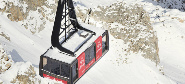 Airbnb turn Courchevel cable car into chalet for night