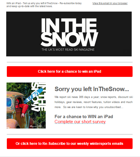 in the snow email