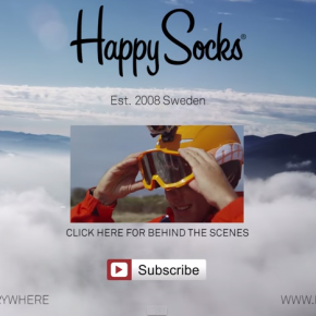 Happy Socks take snowboarding into the skies