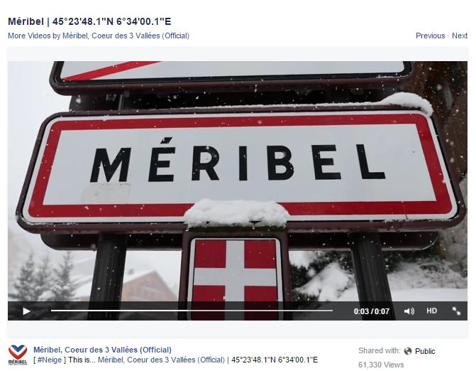 meribel snow video