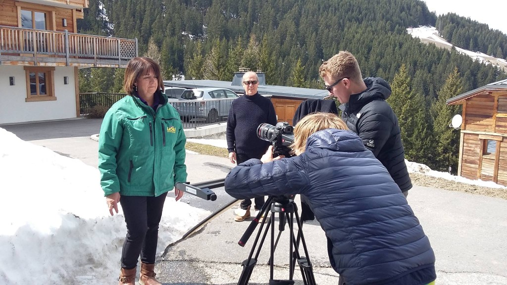 le ski video shoot issie