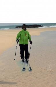 ski on the beach