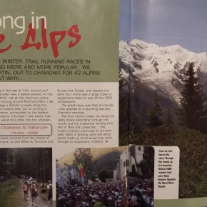 Marathon du Mont Blanc (Chamonix) article in 'Tribe' magazine