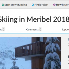 """Pay for my Meribel ski holiday!"" Probably not the best crowdfunding pitch…"