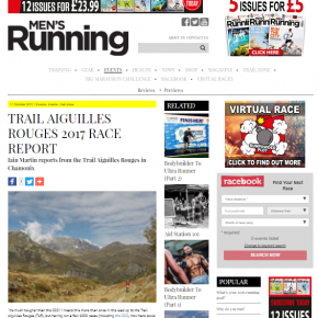 Chamonix article by Skipedia in 'Men's Running Magazine'