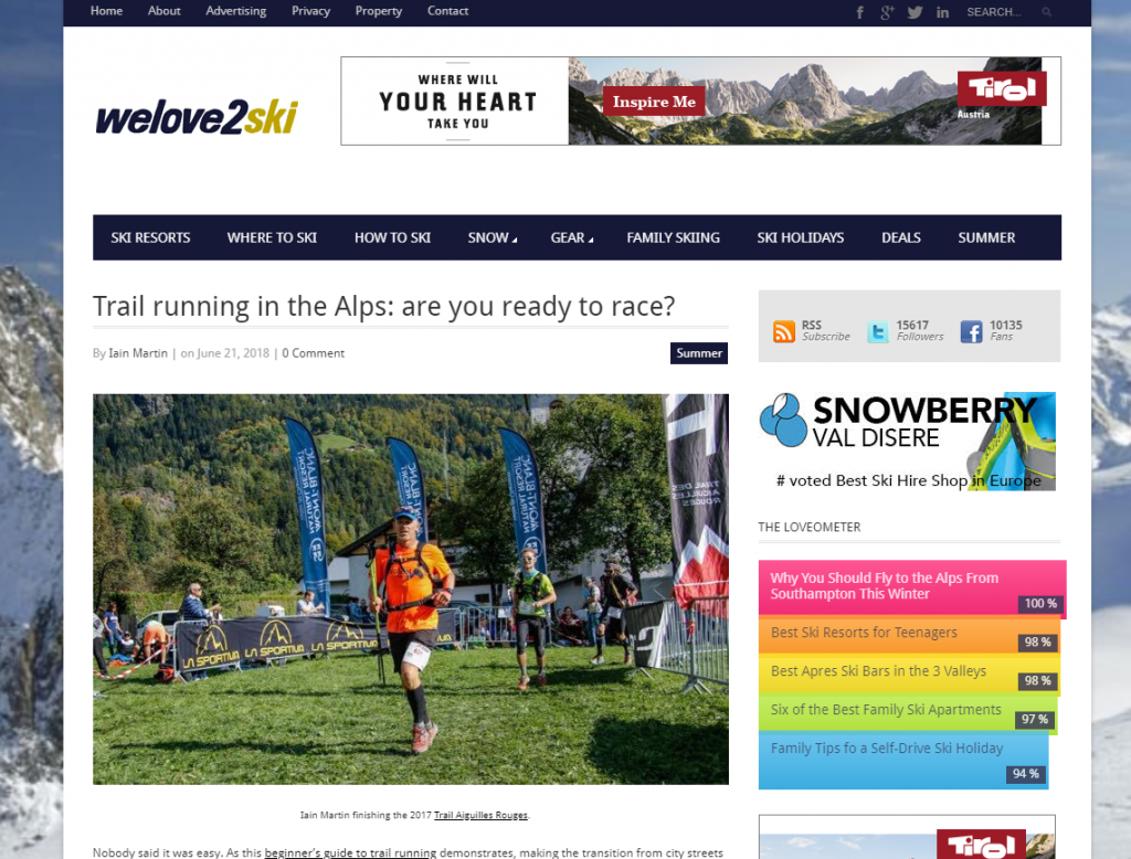 trail running article on welove2ski
