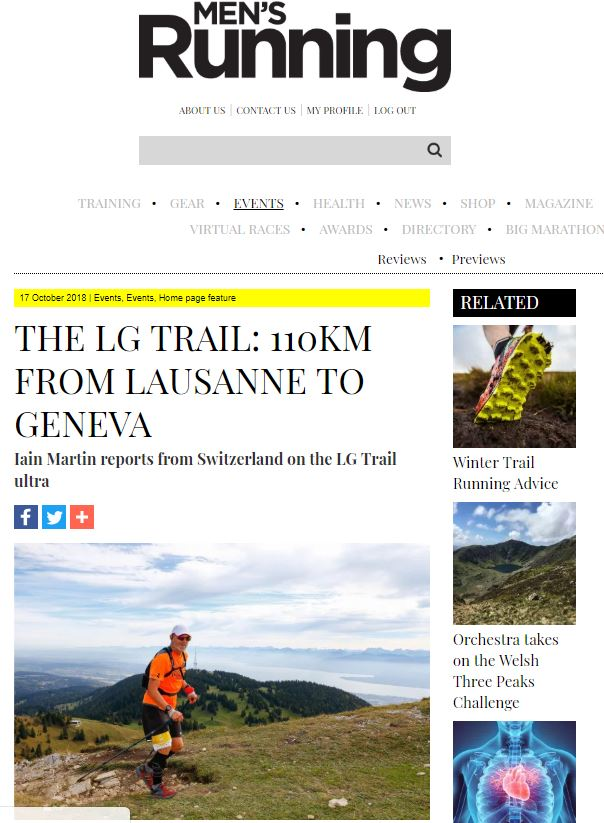 lg trail mens running