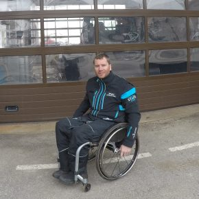 'World's First Wheelchair Piste Basher Driver' article on Telegraph.co.uk