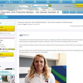 Interview by Skipedia with Charlotte Bankes on J2Ski.com