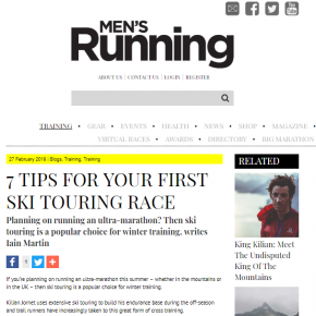 Ski Touring article by Skipedia in Men's Running Magazine