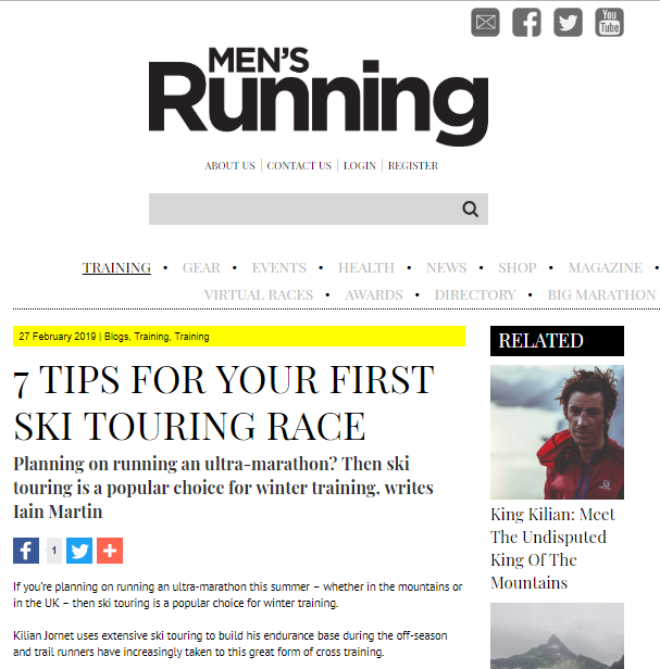 ski touring mens running