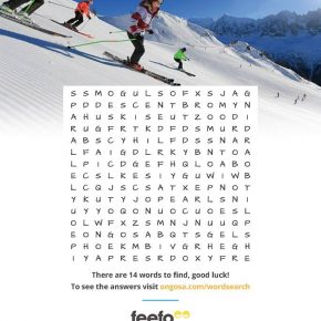 Ongosa's Ski Wordsearch is great marketing