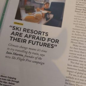 'Ski Flight Free' article by Skipedia in Telegraph Ski & Snowboard Mag