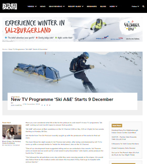 Ski A&E val thorens w channel