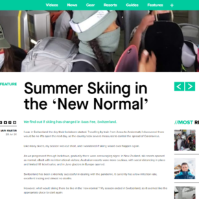 'Skiing in the New Normal' Saas Fee article on InTheSnow.com