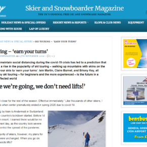Ski Touring in Andermatt article in 'Skier & Snowboarder Magazine'