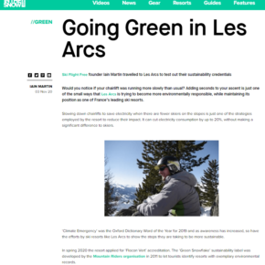Les Arcs 'Green' article on InTheSnow.com