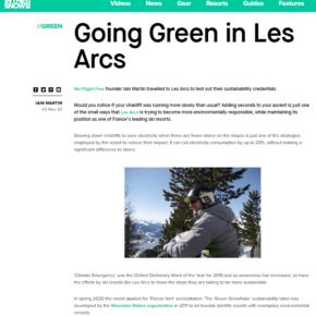 Les Arcs 'Green' article on InTheSnow.com