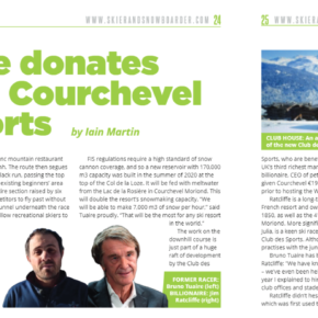 Courchevel article in Skier & Snowboarder Magazine